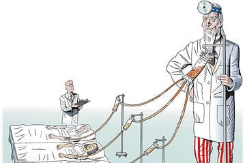 patient doctor illustration