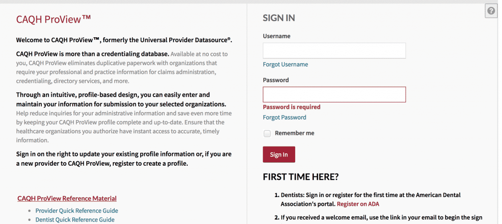 caqh provider login