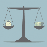 time and money illustration